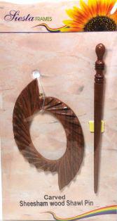 Shawl Pin Oval Wave Design